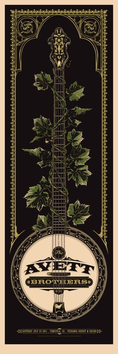 Love this poster. Wonder if it's a Crackerfarm, one of Scott Avett's, or someone else's entirely.