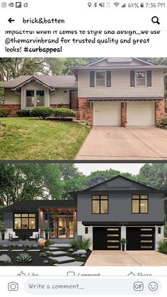 House Paint Exterior, Exterior House Colors, Exterior Design, Home Exterior Makeover, Exterior Remodel, House Makeovers, House Goals, House Front, Curb Appeal