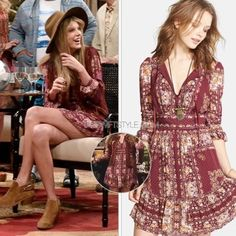 """Free People Bridgette mini dress in berry combo Boho dress. Viscose & poly. Hand wash. Partially lines. Side zipper closure. 35"""" length. Best fit for size 4 IMO. No trades. Free People Dresses Mini"""