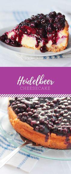 Leckerer Heidelbeer / Blaubeer Käsekuchen oder Cheesecake! Noch besser, als normaler Käsekuchen mit diesem Rezept.