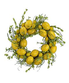 Coming soon to a porch near you? Lemon Wreath by Fantastic Craft #zulilyfinds