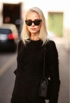 twist my rubber arm... #SashaLuss throwing down some gorgeous #offduty in Milan. $24.99!! www.sunglass-stores.com