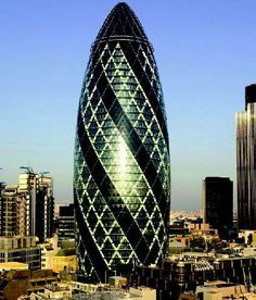 Known to Londoners as the Gherkin, the famous skyscraper that graces the London skyline is the first ecologically tall building in the city and an instantly recognisable addition to the UK architecture.