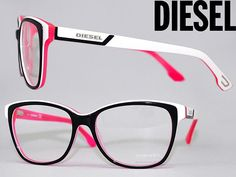 woodnet | Rakuten Global Market: Glasses frame diesel black x White x fluorescent pink DIESEL eyeglasses glasses DL-5013-05 A branded/mens & ladies / man sex for & woman sex for and degrees with ITA reading glasses color PC PC eyeglass lens replacement for / lens replacement and