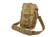 The Convertible Tactical Flexipack MOLLE Shoulder Bag has a removable shoulder strap for easy carry. Convert to carry on your MOLLE gear. Coyote or Black.