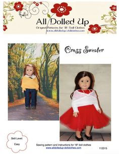 """American Girl Doll Clothes patterns. Patterns for 18"""" doll clothes."""