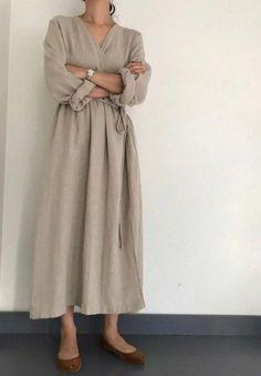 Linen Dresses, Modest Dresses, Casual Dresses, 1950s Dresses, Formal Outfits, Vintage Dresses, Casual Outfits, Long Fall Dresses, Maxi Wrap Dress