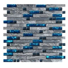 Decorative Tile for Kitchen Backsplash or Bathroom Backsplash 5 Pack *** You can find more details by visiting the image link. (This is an affiliate link and I receive a commission for the sales) Decorative Wall Tiles, Decorative Glass, Stone Mosaic Tile, Marble Mosaic, Mosaic Glass, Grey Backsplash, Stick On Tiles, Blue Tiles, Blue Mosaic