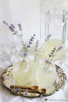 "intensefoodcravings: ""Lavender Lemonade | Skinny Limits """