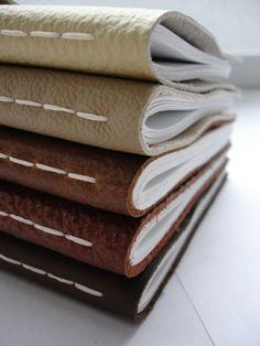 VENTA - tamaño de papel A5 cuaderno de cuero - color crema - medio - Idea de regalo