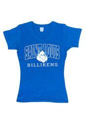 Saint Louis Billikens Womens Blue Basic T-Shirt