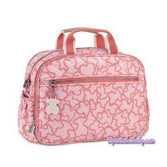"""Bolsa Pañalera """"Baby Tous"""" mod. Kaos color beig rosa."""