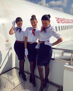 More female airline crew, ground staff and flight attendants wearing uniforms with very tight pencil skirts: . Airline Attendant, Flight Attendant, Tight Pencil Skirt, Tight Skirts, Airline Uniforms, Medical Uniforms, Attendance, Aviation, Clothes