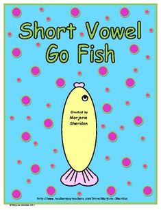 The Short Vowel Go Fish game is a fun center activity created to practice CVC short vowel words and blending. The easy-to-hold fish-shaped cards we. Short Vowel Games, Short Vowel Activities, Short Vowels, Phonics Activities, Phonics Words, Cvc Words, Teaching Vowels, Reading Intervention, Teaching Reading