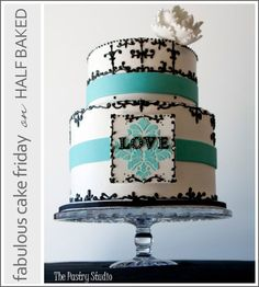 teal wedding cakes | Half Baked – The Cake Blog » Fab Cake Friday: The Pastry Studio