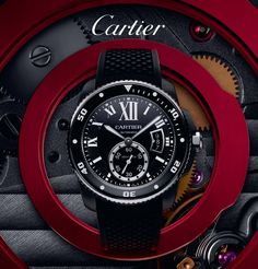 En exclusiva Nuevo Calibre de ‪#‎Cartier‬ Diver Carbon en ‪#‎Peyrelongue‬