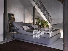 Tower Storage Bed In Grey Eco Leather