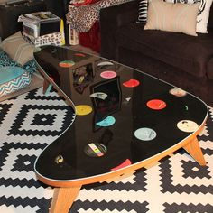Epoxy record table by Reanimated Customs in Long Beach