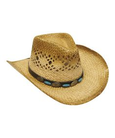 This Natural & Blue Bead Cowboy Hat is perfect! #zulilyfinds