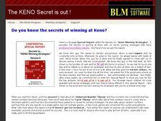 Keno winning strategies download