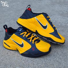 Let's Kick off Father's day with some Bruce Lee Air Monarchs. Let's Kung Fu! Customs made by _ Tag a Dad that would love these! Nike Air Force, Nike Air Max, Air Max Sneakers, Sneakers Nike, Nike Air Monarch, Dad Shoes, Bruce Lee, Custom Shoes, Behind The Scenes
