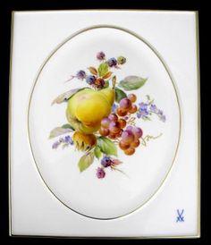 ユーロクラシクス|マイセン プラーク 陶板画  フラワー フルーツ 四季 風景