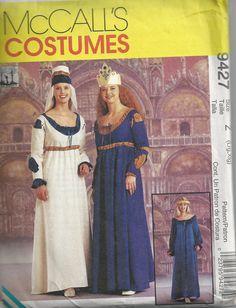 UNCUT Renaissance Maidens Costume Patterns