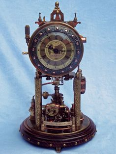 Steampunk Clock 2(2) by ~dkart71 on deviantART (more detail pics & video at link - so stunning!)