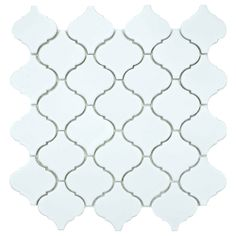 SomerTile 12.5x12.5-inch Morocco Matte White Porcelain Mosaic Tiles (Set of 10) | Overstock.com Shopping - The Best Deals on Wall Tiles 10 for 123