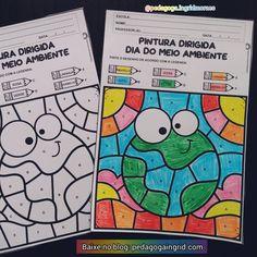 Atividade pintura dirigida dia domeio ambiente. Para os pequenos se divertirem pintando, trabalhando atenção e a distinção deletras do alfabeto e ao mesmo tempo descobrirem a fofura do desenho do planeta terra, que deve ser protegido e pensado neste dia do meio ambiente e sempre, afinal este planeta fofo é o nosso lar.❤️ - - - Para BAIXAR entre no meu blog. Link no meu perfil ou pesquise no Google pedagoga Ingrid Moraes e entre no blog ❤️. - - - #pedagogia #pedagogaingridmoraes… Blog, Diagram, Bullet Journal, Link, Google, Instagram Posts, Letters Of Alphabet, Crafts For Children, 1 Year