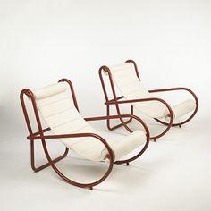 GAE AULENTI  Locus Solus chairs, pair  Poltronova  Italy, 1964.