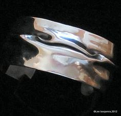 Sterling Silver Fold Formed Cuff Bracelet by PinkCoyoteJewelry on Etsy, $435.00