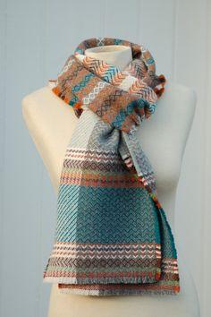 Handwoven scarf weaving long scarf wool scarf by JuliaComplin