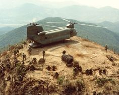 US Soldiers and a Helicopter In Vietnam. Sadly, drug use was rife throughout the conflict. Flickr /manhhai / CC BY-2.0