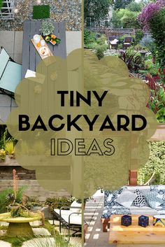 A tiny backyard can still be a lush oasis with a good design plan. From plants, to furniture, to pathways, steal some of these great ideas from real people's tiny backyards. Backyard ideas 7 Ideas to Steal from Real People's Tiny Backyards Tiny Garden Ideas, Small Backyard Design, Backyard Ideas For Small Yards, Small Outdoor Spaces, Small Backyard Landscaping, Ponds Backyard, Landscaping Ideas, Corner Landscaping, Modern Backyard