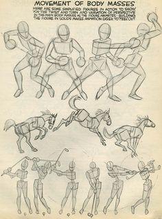 "Preston blair, ""movement of body masses"" drawing skills, drawing lessons, drawing Drawing Lessons, Drawing Skills, Drawing Techniques, Figure Drawing, Animation Reference, Drawing Reference, Learn Animation, Illustrator Tutorials, Art Tutorials"