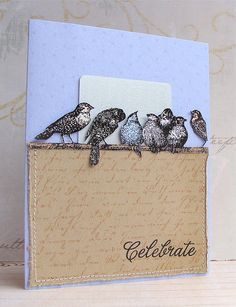 Hero Arts Digital Gift Card Holder - Vintage Skyland Birds by Lucy Abrams, via Flickr