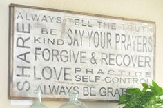 Family Rules Sign | The Magnolia Market