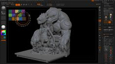 PolyPaintingInZBrush_001_B_ColorSwatchesSpotlight. We will look at using Spotlight in ZBrush to add our color swatch to so we can pull color...