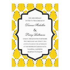Art Deco Motif Wedding Invitation