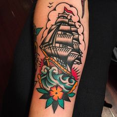 Old school ship Tattoo