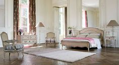 traditional bedroom hint pink