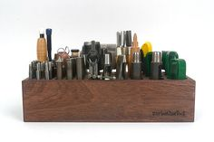 Nice organizer design for dapping punches. Multi size Tool Rack Wooden Design tool Organizer for by VACHETA