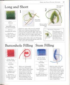 """Photo from album """"Stitch Sampler"""" on Yandex. Embroidery Sampler, Embroidery Flowers Pattern, Creative Embroidery, Hand Embroidery Stitches, Hand Embroidery Designs, Diy Embroidery, Embroidery Techniques, Bargello Needlepoint, Needlepoint Stitches"""