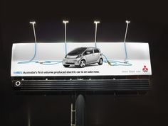 Mitsubishi i-Miev: iMiEV Electric Billboard by Clemenger BBDO