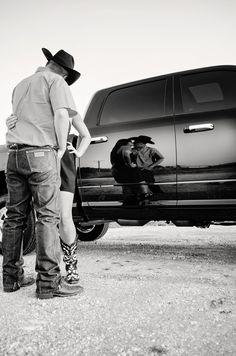 Dodge Trucks  Family Photography  Black and White