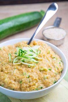 cheesy zucchini quinoa