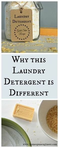 Easy how-to recipe for a more natural and hard working laundry soap.