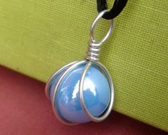 Turquoise Marble Pendant  Sterling Silver by nicholasandfelice