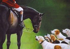 The Greeting by Janet Crawford - Horse Art Giclee on Canvas